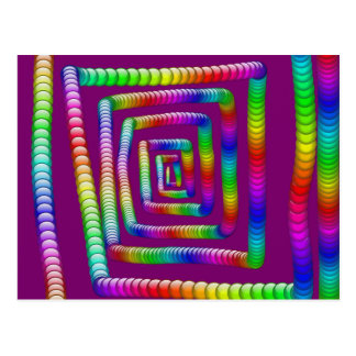 Cool Funky Rainbow Maze Rolling Marbles Design Postcard