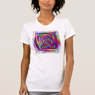 Cool Funky Rainbow Maze Rolling Marbles Design Shirt