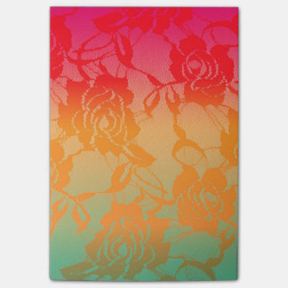 Cool Funky Summer Colorful Gradient Post-it Notes
