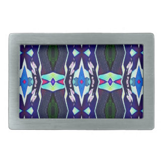 Cool Funky Tribal Kaleidoscope Pattern Belt Buckles