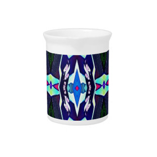 Cool Funky Tribal Kaleidoscope Pattern Pitcher