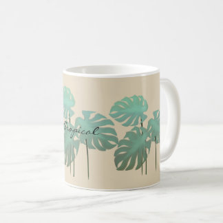 Cool Funky Tropical Leaf  Add Name Mug