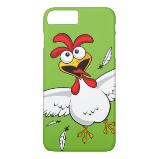 Cool Funny Cute Humorous Cartoon Chicken For Kids iPhone 8 Plus/7 Plus Case