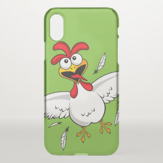 Cool Funny Cute Humorous Cartoon Chicken For Kids iPhone X Case