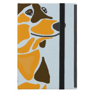 Cool Funny Funky Dachshund Dog Art Cover For iPad Mini