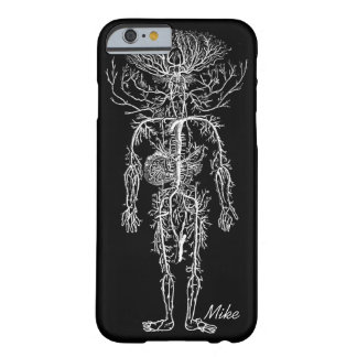 Cool Funny Geek Man's Circulatory System Custom Barely There iPhone 6 Case