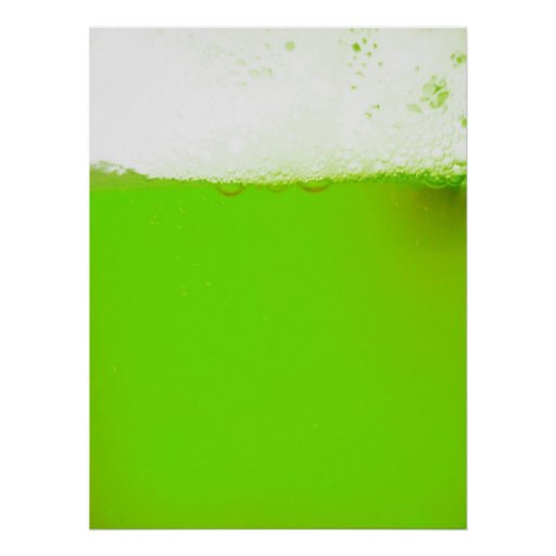 Cool Funny Irish Green Beer Poster