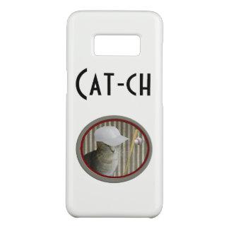 "Cool Funny joke ""cat-ch"" baseball cat Case-Mate Samsung Galaxy S8 Case"