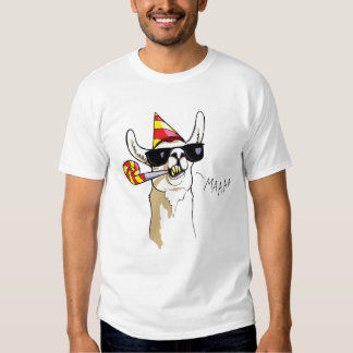 Cool Funny Party Llama T-Shirt with Sunglasses