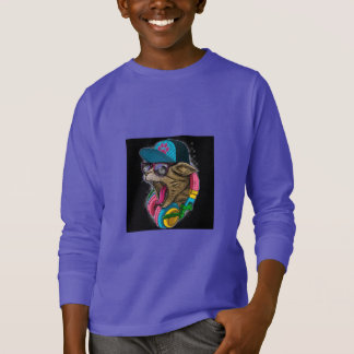 cool gangster rapping cat. T-Shirt