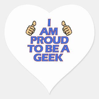 cool geek designs heart sticker