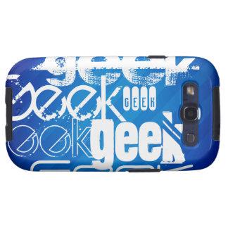 Cool Geek; Royal Blue Stripes Galaxy SIII Cover