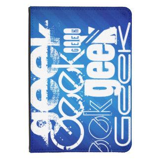 Cool Geek; Royal Blue Stripes Kindle 4 Cover