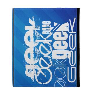Cool Geek; Royal Blue Stripes iPad Folio Case