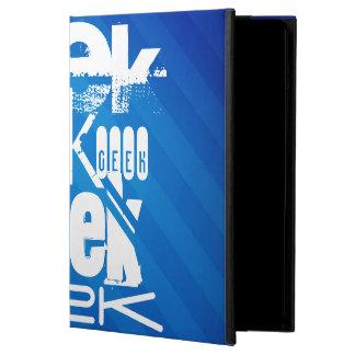 Cool Geek; Royal Blue Stripes iPad Air Cases