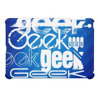 Cool Geek; Royal Blue Stripes iPad Mini Cases