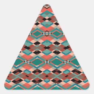 Cool Geometric Aztec Pattern Triangle Sticker