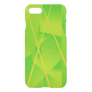 Cool Geometric Pattern in Ombre Neon Green iPhone 8/7 Case