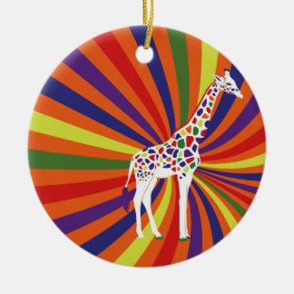 Cool Giraffe Ceramic Ornament