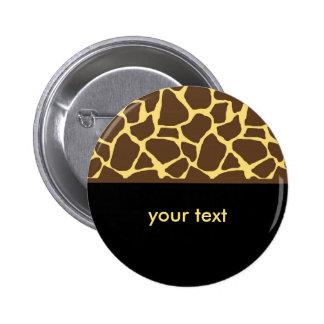 Cool Giraffe Pattern 6 Cm Round Badge