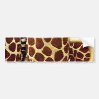 Cool Giraffe Pattern and Zebra Stripes Coffee Mugs Bumper Sticker