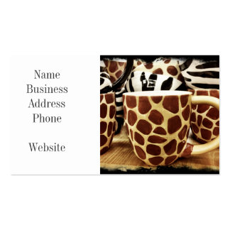 Cool Giraffe Pattern and Zebra Stripes Coffee Mugs Pack Of Standard Business Cards