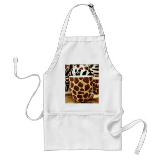 Cool Giraffe Pattern and Zebra Stripes Coffee Mugs Standard Apron