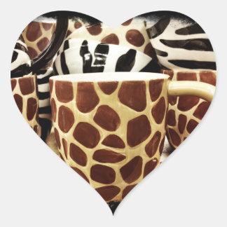 Cool Giraffe Pattern and Zebra Stripes Coffee Mugs Stickers