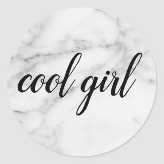 COOL GIRL MARBLED STICKER