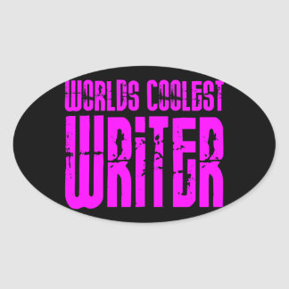 Cool Girl Writers Pink Worlds Coolest Writer Sticker
