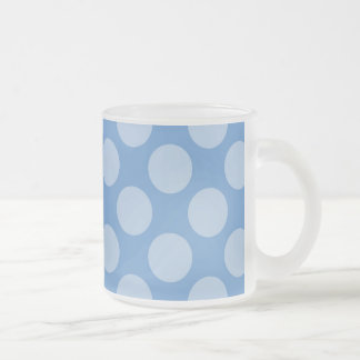 Cool Girly Blue Polka Dots Pattern on Blue Gifts Coffee Mug