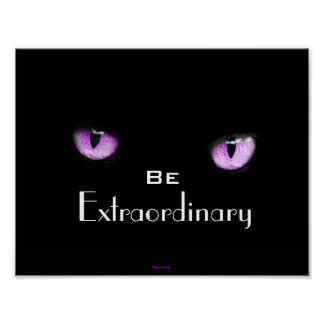 Cool Girly Motivational Inspirational Eyes of Cat Poster