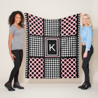 Cool Girly & Trendy Patterns Fleece Blanket