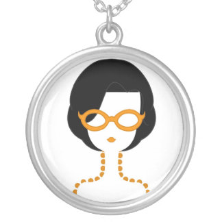 """Cool Glasses"" in Orange Necklace"