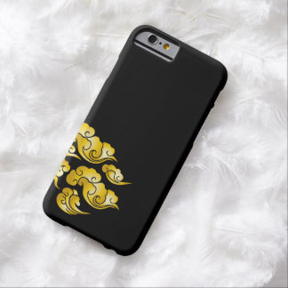 Cool Gold Cloud Patterns Black iPhone 6 Case
