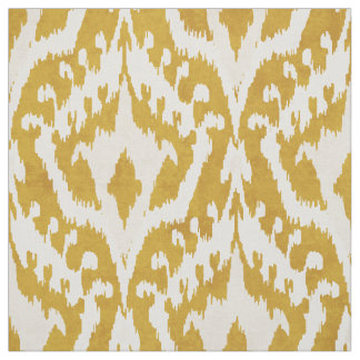Cool gold ikat tribal pattern fabric