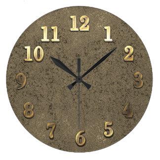 Cool Gold & Old Copper Look Add Initials Clock