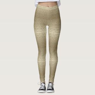 Cool Gold textured Leggings