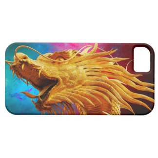 Cool Golden Dragon colourful Thailand background iPhone 5 Cases