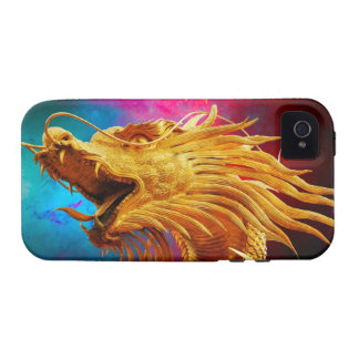 Cool Golden Dragon colourful Thailand background Case For The iPhone 4