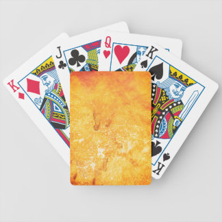 Cool golden yellow bleached paint effect deck of cards