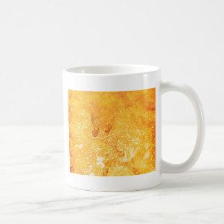 Cool golden yellow bleached paint effect coffee mug