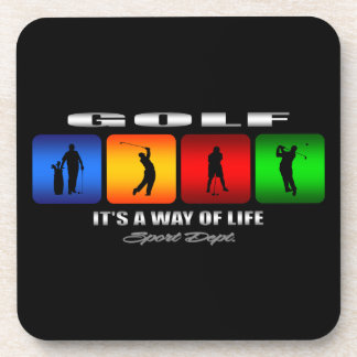 Cool Golf It Is A Way Of Life Beverage Coasters