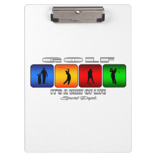 Cool Golf It Is A Way Of Life Clipboard