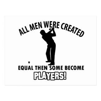 cool golfer player design postcards