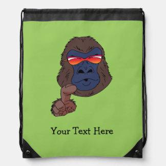 cool gorilla drawstring bags