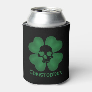 Cool Gothic shamrock Can Cooler