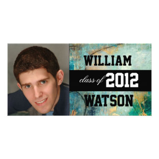 Cool Graduation Announcement Personalized Photo Card