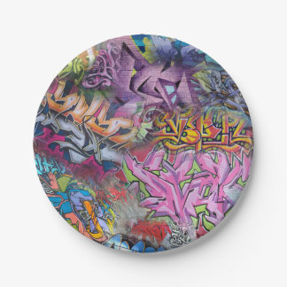 Cool Graffiti Street Art Abstract Paper Plate