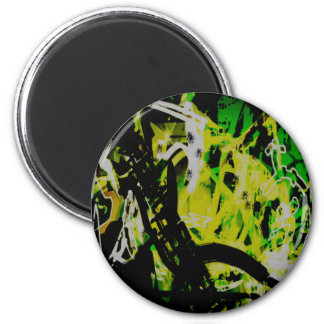 COOL GRAFFITTI EIGHT 6 CM ROUND MAGNET